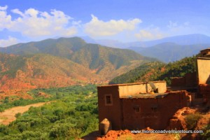 Beautiful view across the Ourika Valley, Morocco
